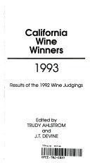 California Wine Winners  1993