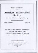 Proceedings, American Philosophical Society (vol. 95, no. 3) Pdf/ePub eBook
