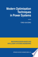 Modern Optimisation Techniques In Power Systems Book PDF