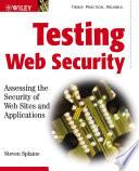 Testing Web Security