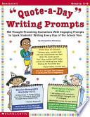 Quote a Day  Writing Prompts Book