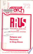 Relapse and Recovery in Drug Abuse