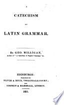 A Catechism of Latin Grammar Book PDF