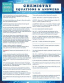 Chemistry Equations   Answers  Speedy Study Guide