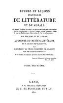 Études et leçons françaises de littérature et de morale ...
