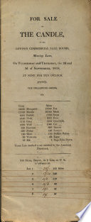 For Sale by the Candle, at the London Commercial Sale Rooms, Mincing Lane, on Wednesday and Thursday, the 2d and 3d of September, 1818, ... the Following Goods, Viz. Skins ... Musquash ... Martin ... Rabbit ... Fitch ... Otter ...