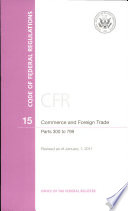 Code of Federal Regulations, Title 15, Commerce and Foreign Trade
