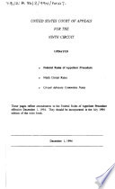 Federal Rules of Appellate Procedure  Ninth Circuit Rules  Circuit Advisory Committee Notes Book