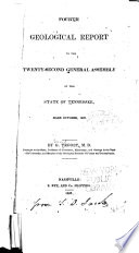 Geological Report To The General Assembly Of The State Of Tennessee