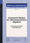 Geometric Models for Noncommutative Algebras