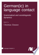 German(ic) in language contact