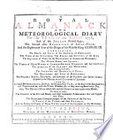 A Royal Almanack And Meteorological Diary For The Year Of Our Lord 1778 By Henry Andrews