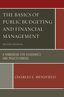 Pdf The Basics of Public Budgeting and Financial Management Telecharger