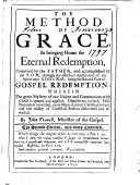 Pdf The Method of Grace in Bringing Home the Eternal Redemption ... Being the Second Part of Gospel Redemption