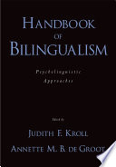 Handbook of Bilingualism Book