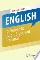 English for Research: Usage, Style, and Grammar