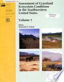 Assessment Of Grassland Ecosystem Conditions In The Southwestern United States Without Special Title