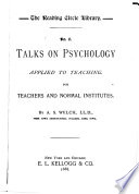 Talks on Psychology Applied to Teaching