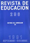 Revista de educación no 296. Historia del curriculum (II)
