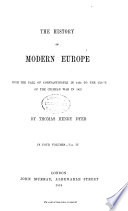 The History of Modern Europe Book