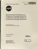 Experimental Verification of a Progressive Damage Model for Composite Laminates Based on Continuum Damage Mechanics
