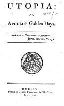 Pdf Utopia: Or, Apollo's Golden Days ...
