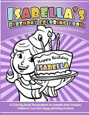 Isabella's Birthday Coloring Book Kids Personalized Books