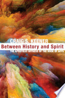 Between History And Spirit Book