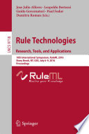 Rule Technologies  Research  Tools  and Applications
