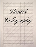 Slanted Calligraphy Italic Copperplate Practice Paper