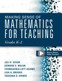 Making Sense of Mathematics for Teaching Grades K-2 [Pdf/ePub] eBook