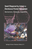 Pdf Seed Dispersal by Ants in a Deciduous Forest Ecosystem Telecharger