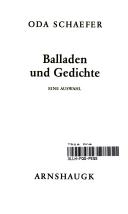 Balladen Und Gedichte Eine Auswahl Oda Schaefer Google
