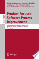 Product Focused Software Process Improvement Book