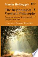 The Beginning of Western Philosophy Book