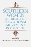 Southern Women in the Recent Educational Movement in the South