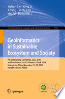 Geoinformatics in Sustainable Ecosystem and Society