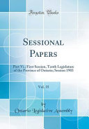 Sessional Papers  Vol  35