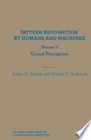 Pattern Recognition by Humans and Machines Book PDF