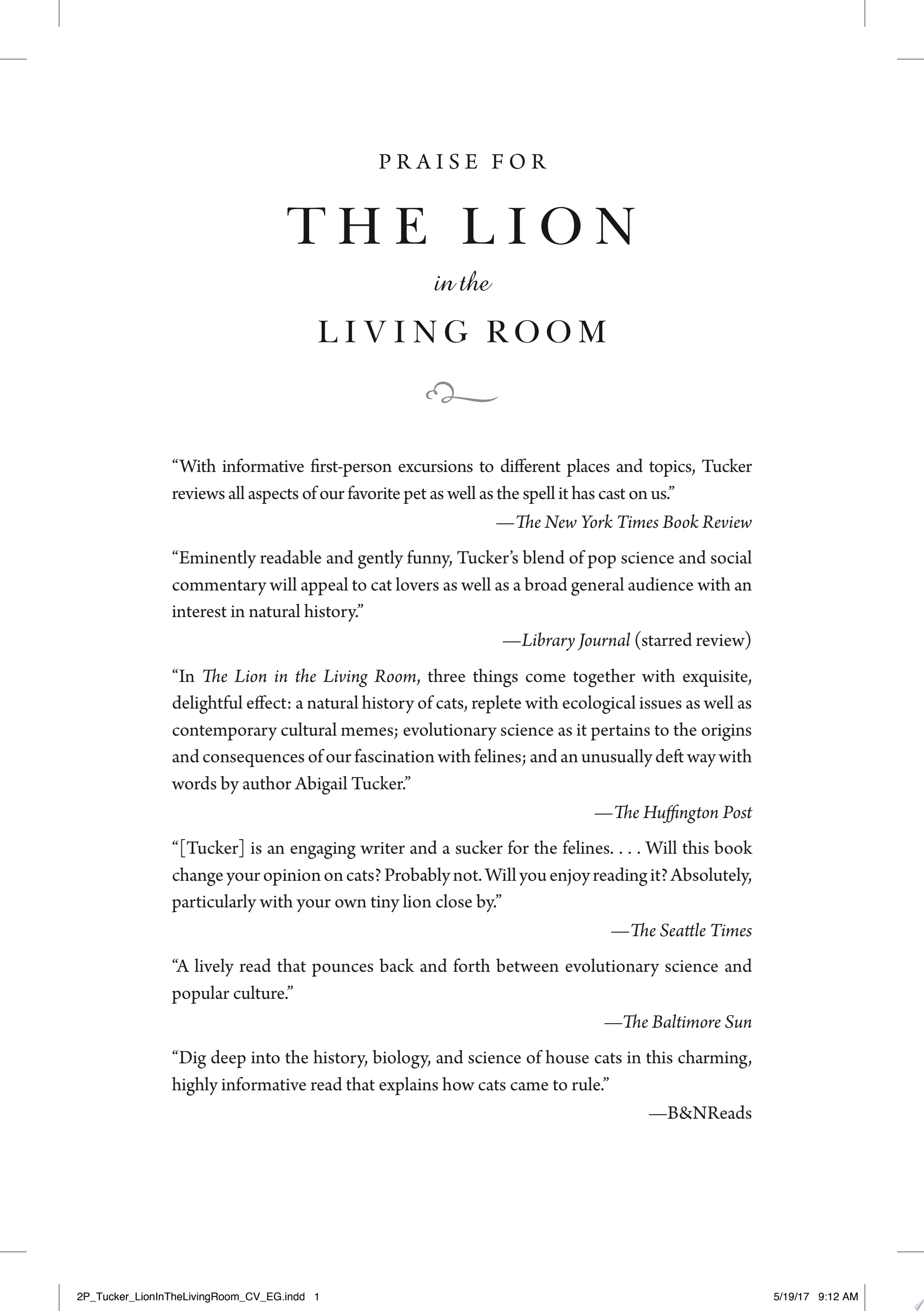 The Lion in the Living Room