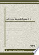 Advanced Materials Research Iii Book PDF