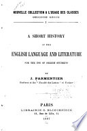 A short history of the English language for the use of French students