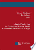 Islamic Family Law In Europe And Islamic World Current Situation And Challenges