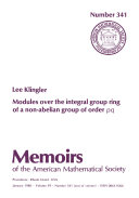 Modules over the Integral Group Ring of a Non Abelian Group of Order  pq