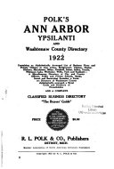 Ann Arbor City Directories
