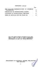 External Affairs Review