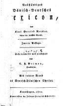 Vollständiges deutsch-dänisches lexicon
