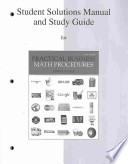 Student Solutions Manual and Study Guide to accompany Practical Business Math Procedures