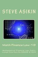 Math Finance Law 19  2nd Ed
