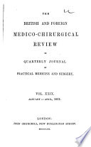 British and Foreign Medico chirurgical Review Book
